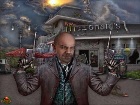 Photo free Lenin magdonalds, revolvers, guns