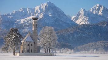Бесплатные фото горы,снег,облака,зима,мороз,холод,деревья