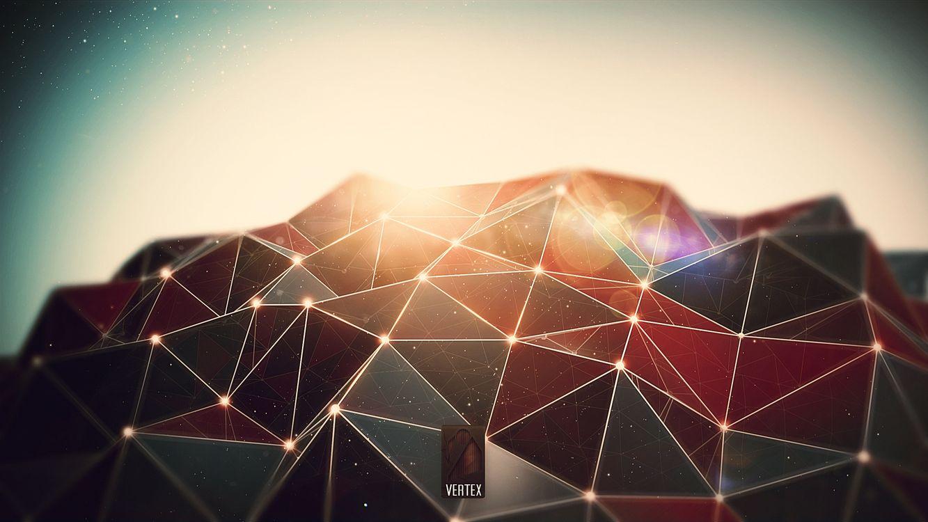 Фото бесплатно грани, лучи, свет, отражение, полосы, линии, звезды, абстракции, абстракции