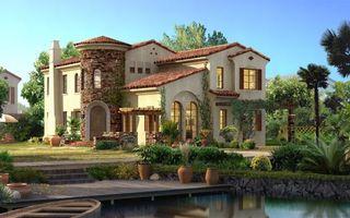 Заставки коттедж,пруд,дизайн,ремонт,газон,цветы,клумба