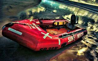 Фото бесплатно лодка, резиновая, красная