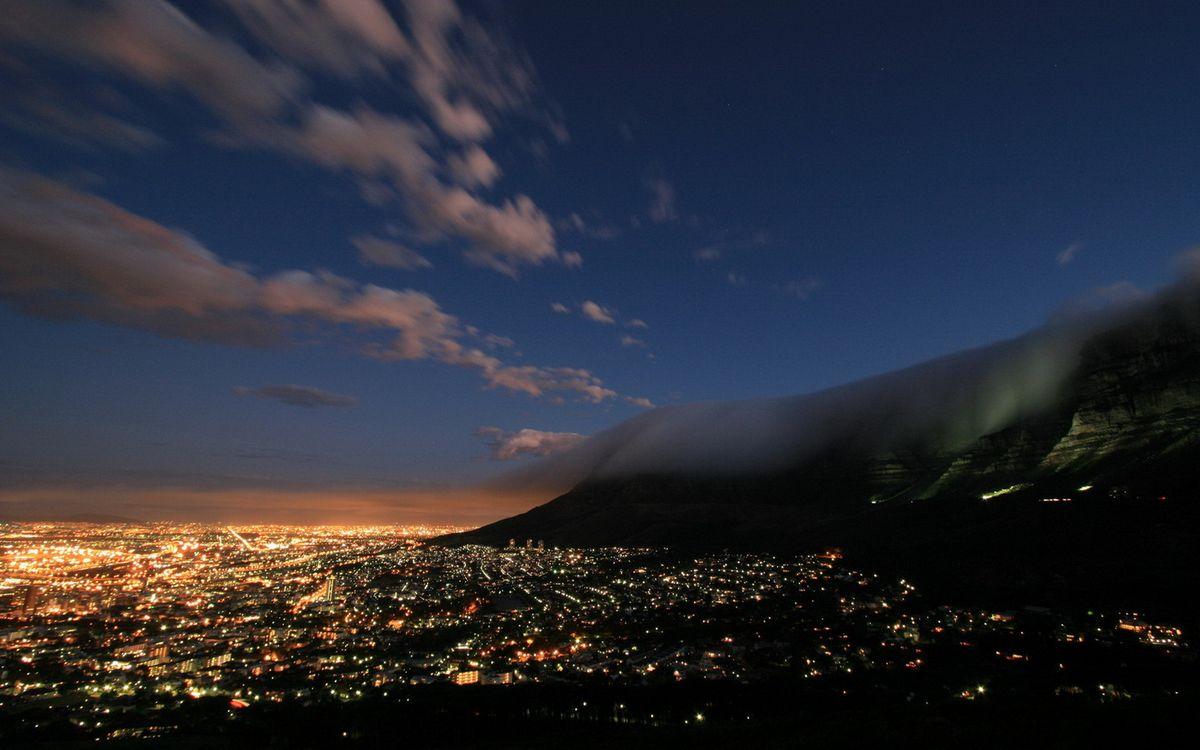 Фото бесплатно облака, огни, улицы - на рабочий стол