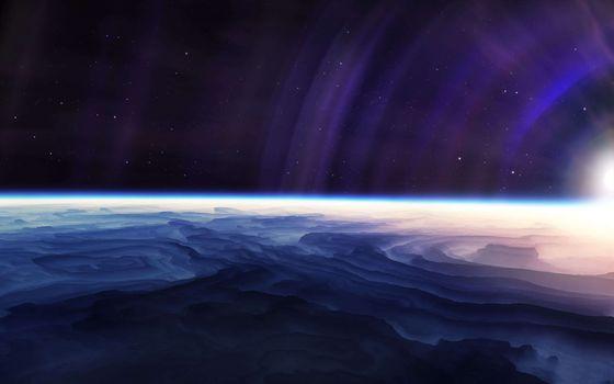 Фото бесплатно планета, поверхность, тучи