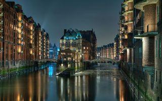Фото бесплатно река, здания, небо