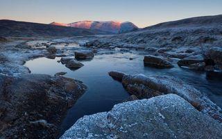 Заставки скалы, камни, мороз
