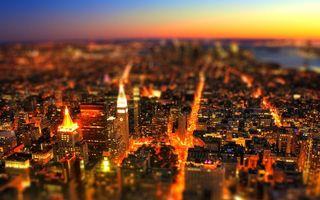 Фото бесплатно высота, огни, свет, дома, улицы, небо, голубое, горизонт, фото, крыши, город