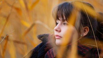 Фото бесплатно юная, личико, брюнетка