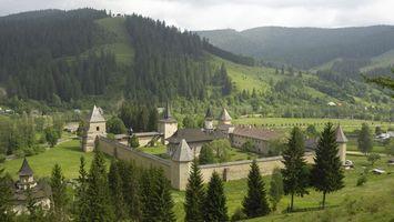 Photo free castle, trees, hills