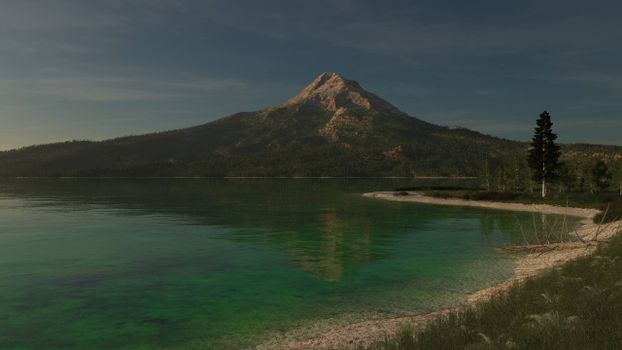 Красивые картинки берег, гора