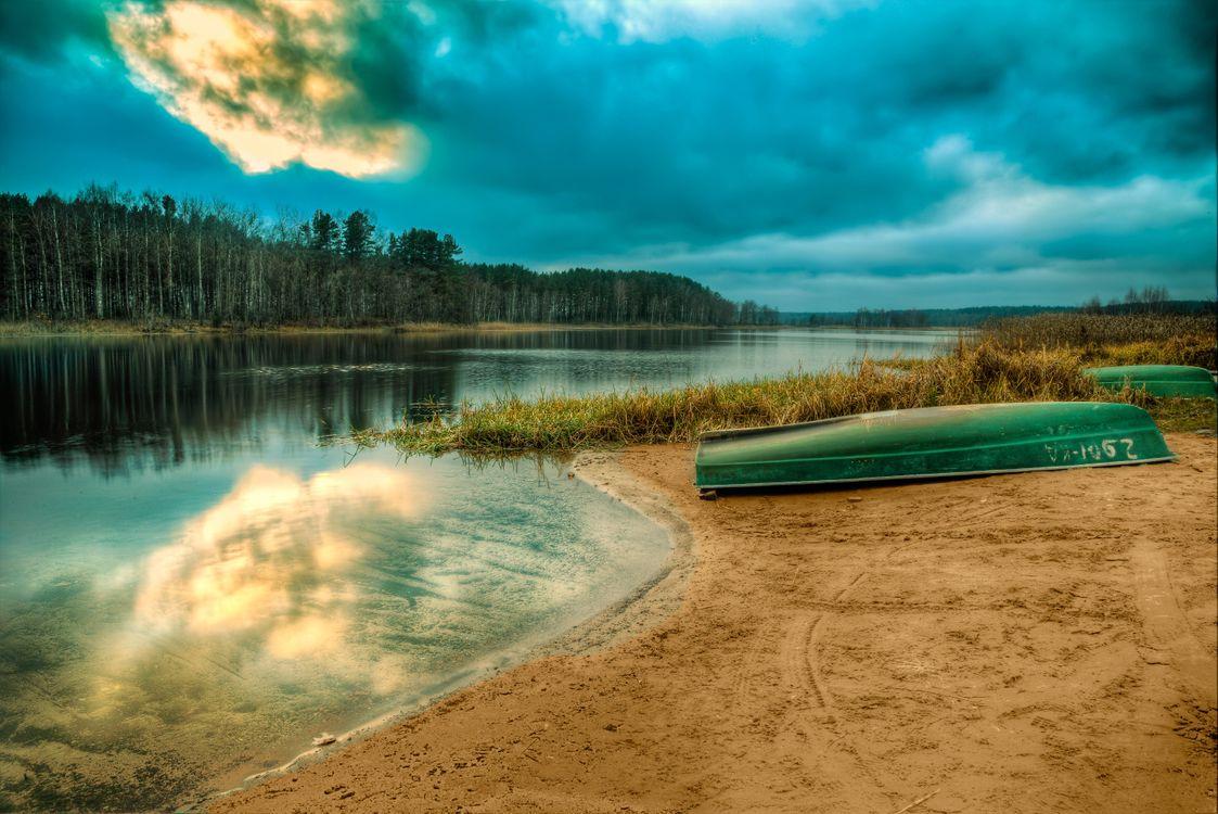 Фото бесплатно Россия, озеро Селигер, закат - на рабочий стол