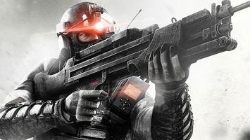 Фото бесплатно солдат, амуниция, шлем