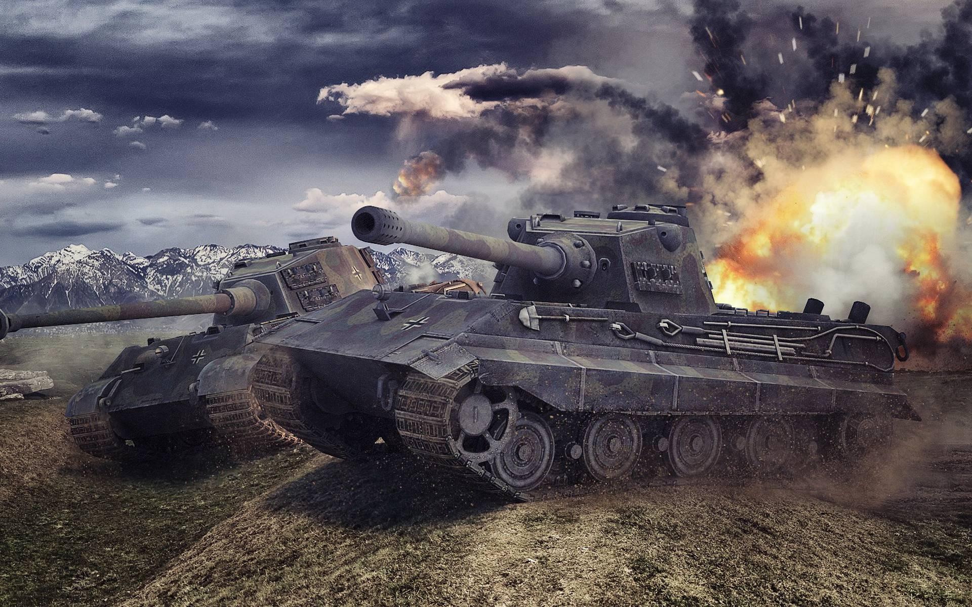 обои танки, броня, пушки, бой картинки фото