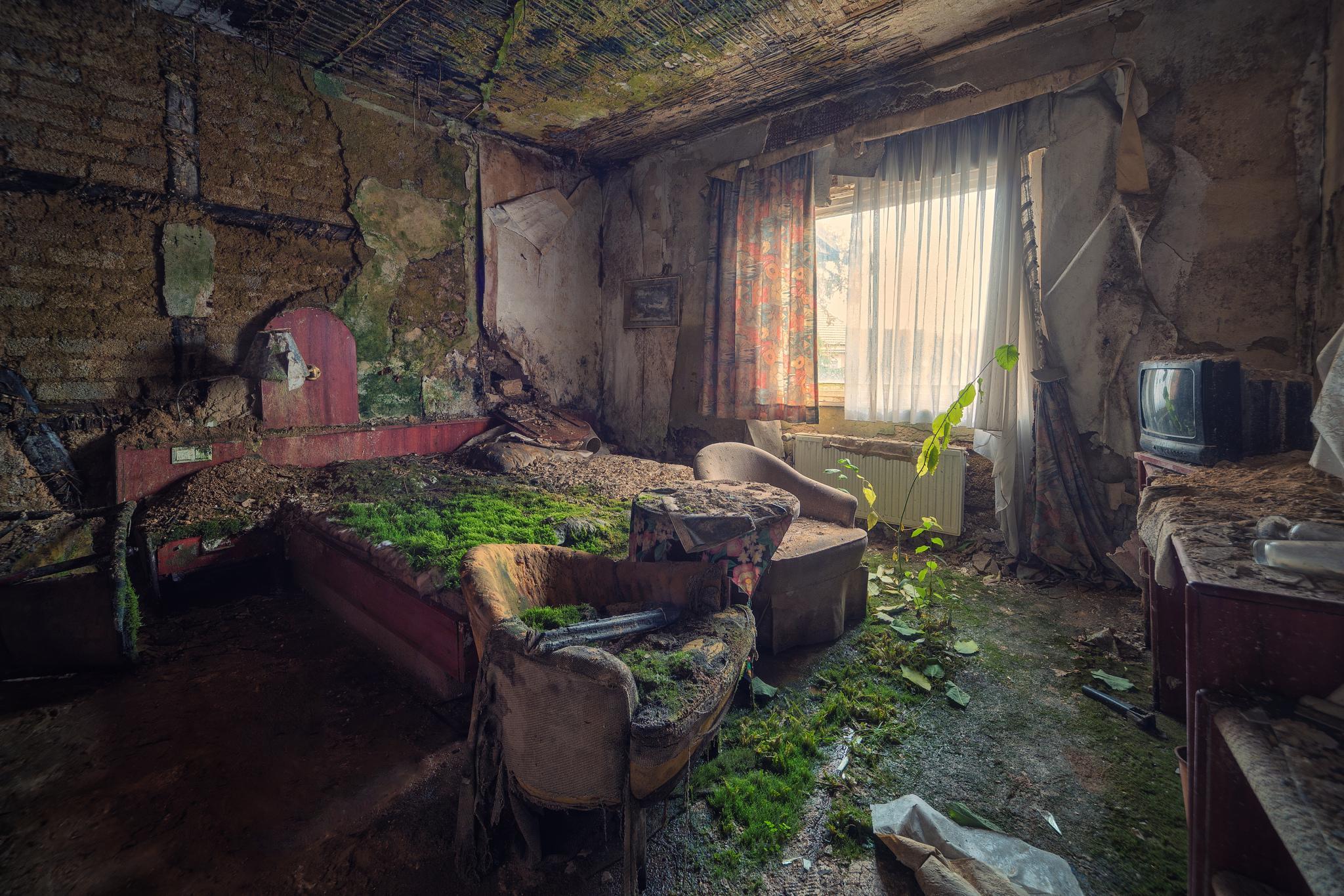 обои интерьер, комната, руины картинки фото