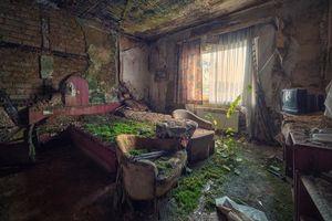 Заставки интерьер, комната, руины