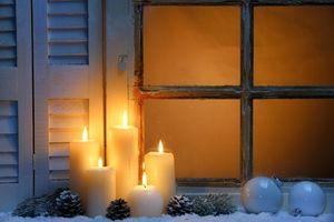 Фото бесплатно элементы, рождество, свеча