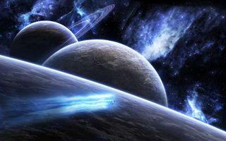 Фото бесплатно космос, вселенная, планеты, звёзды, созвездия, свечение, невесомость, вакуум, галактика, метеориты, астероиды, art