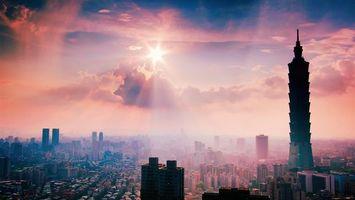 Бесплатные фото улицы,дома,здания,небоскребы,башня,небо,солнце