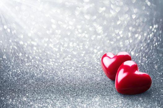 Photo free two hearts, happy valentine`s day, valentine