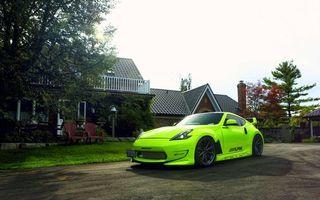 Бесплатные фото Nissan 350Z,кислотный,зеленый