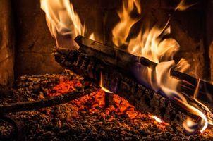 Photo free fireplace, bonfire, firewood