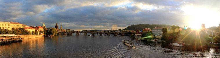 Обои Прага, Чехия, панорама