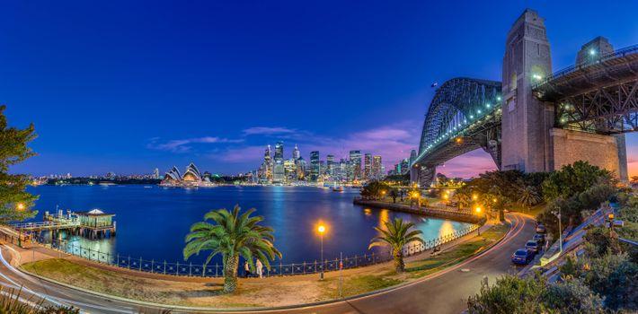 Фото бесплатно Австралия, Сидней, мегаполис