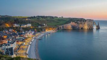 Бесплатные фото Нормандия, Франция, закат