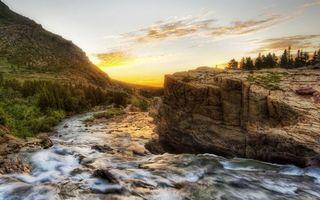 Фото бесплатно река, камни, деревья