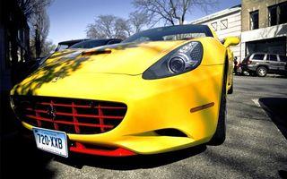 Бесплатные фото феррари,желтая,решетка,значок,фары,машины,здание