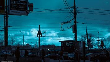 Фото бесплатно ART IRBIS PRODUCTION, Москва, туман, снег, люди, машины, столбы, провода, Khusen Rustamov, Хусен Рустамов, xusenru, Природа, Россия, Город, мрак