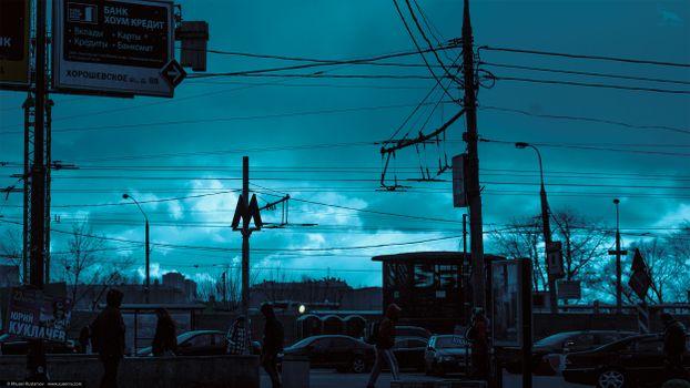 Фото бесплатно xusenru, провода, Москва