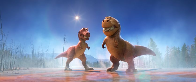 Фото бесплатно приключения, хороший динозавр, мультфильм