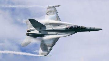 Бесплатные фото самолет,истребитель,полет,вираж,дым,небо