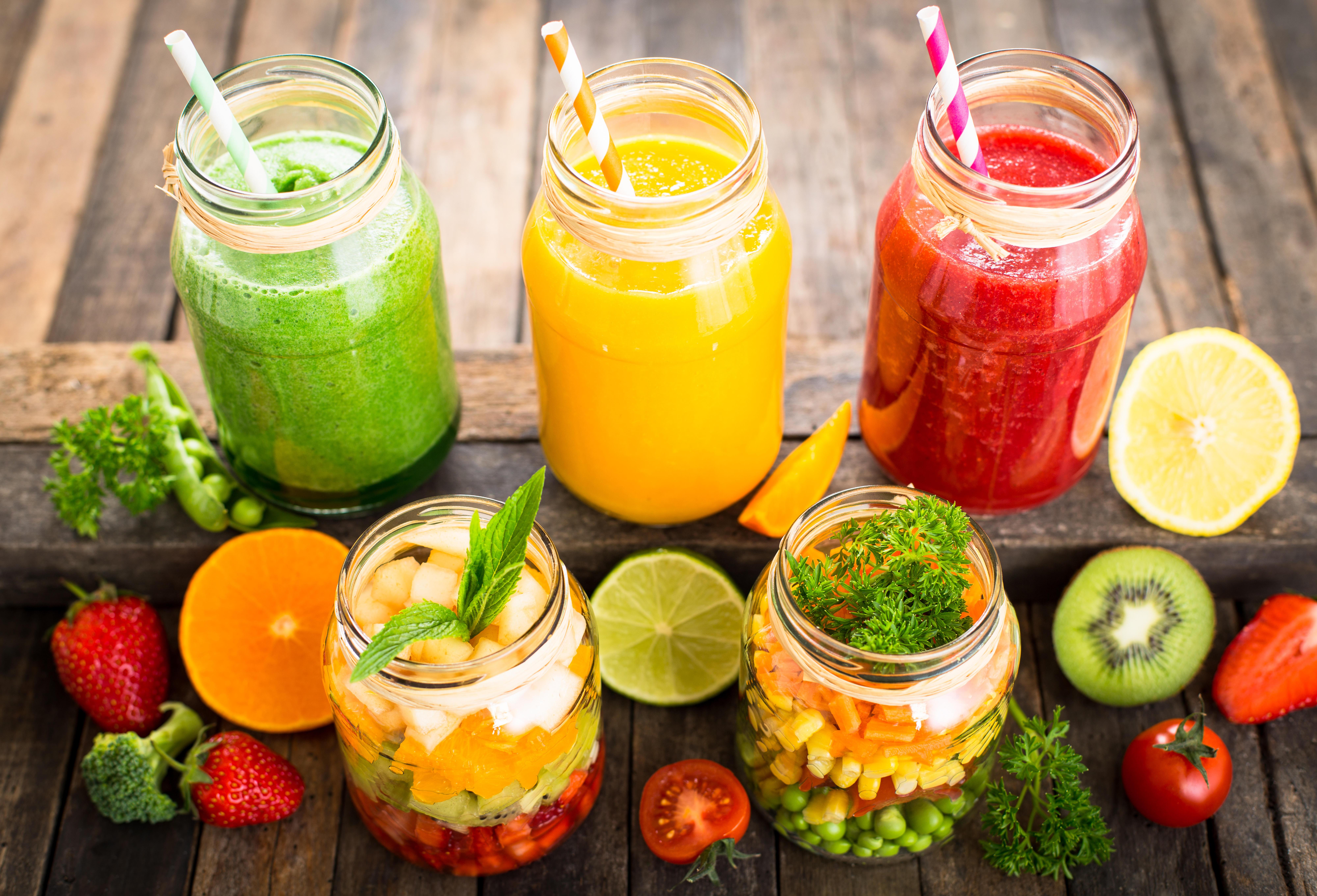 фрукты, ягоды, салаты