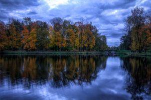 Бесплатные фото озеро, осень, мост, деревья, пейзаж