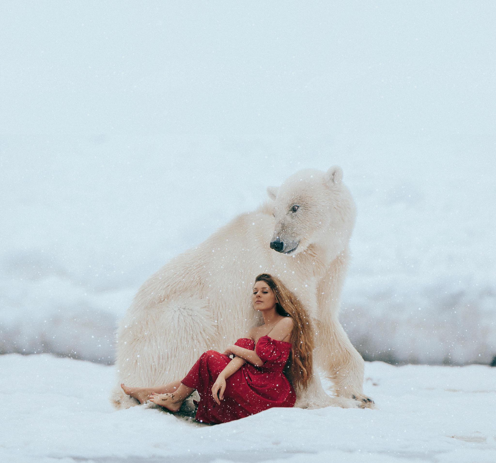 Обои зима, девушка, модель, красотка