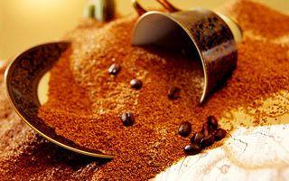 Фото бесплатно чашка, блюдце, кофе, молотый, зерна, напиток