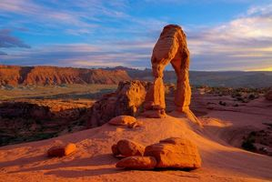 Фото бесплатно Delicate Arch, Arches National Park, горы, скалы, арка, пейзаж