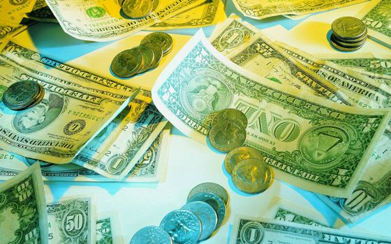 Photo free bills, dollars, coins
