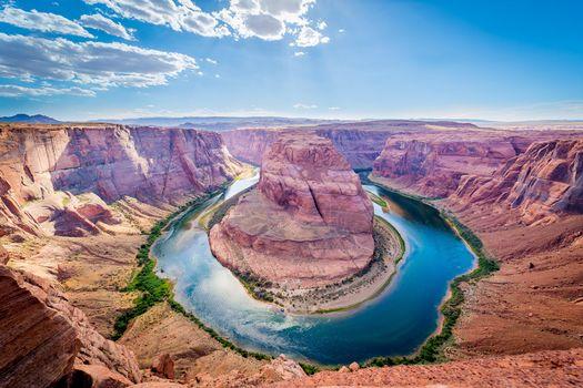 Бесплатные фото Horseshoe Bend,Colorado river,Glen Canyon,Arizona,USA