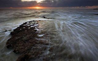 Фото бесплатно море, солнце, облака