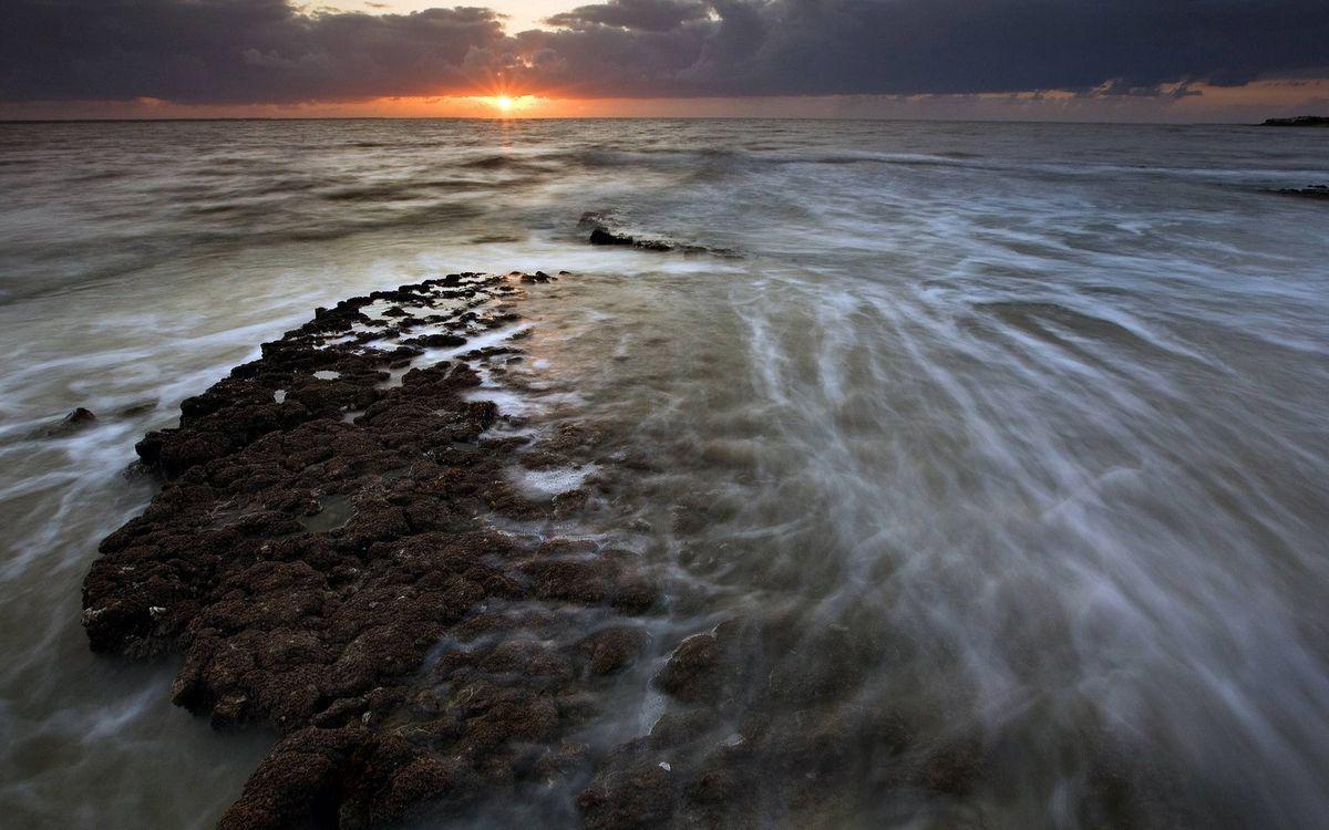 Фото бесплатно море, солнце, облака - на рабочий стол