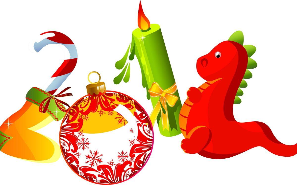 Фото бесплатно новый год, цифры, дракон - на рабочий стол