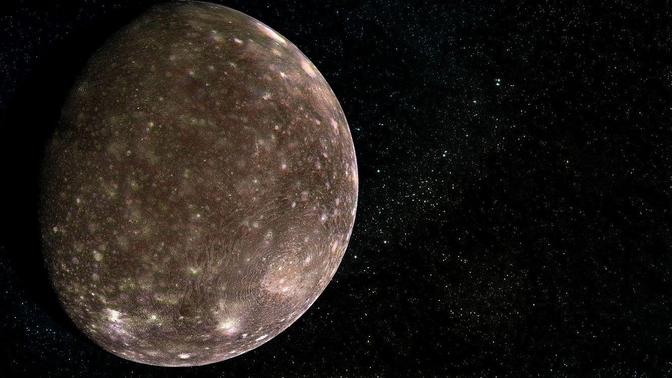 Фото бесплатно планета, тень, звезды - на рабочий стол