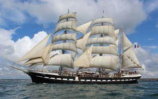 Бесплатные фото belem,корабль,паруса,море,берег,разное