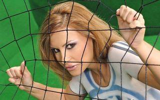 Бесплатные фото девушка,взгляд,макияж,брови,глаза,сетка,ворота