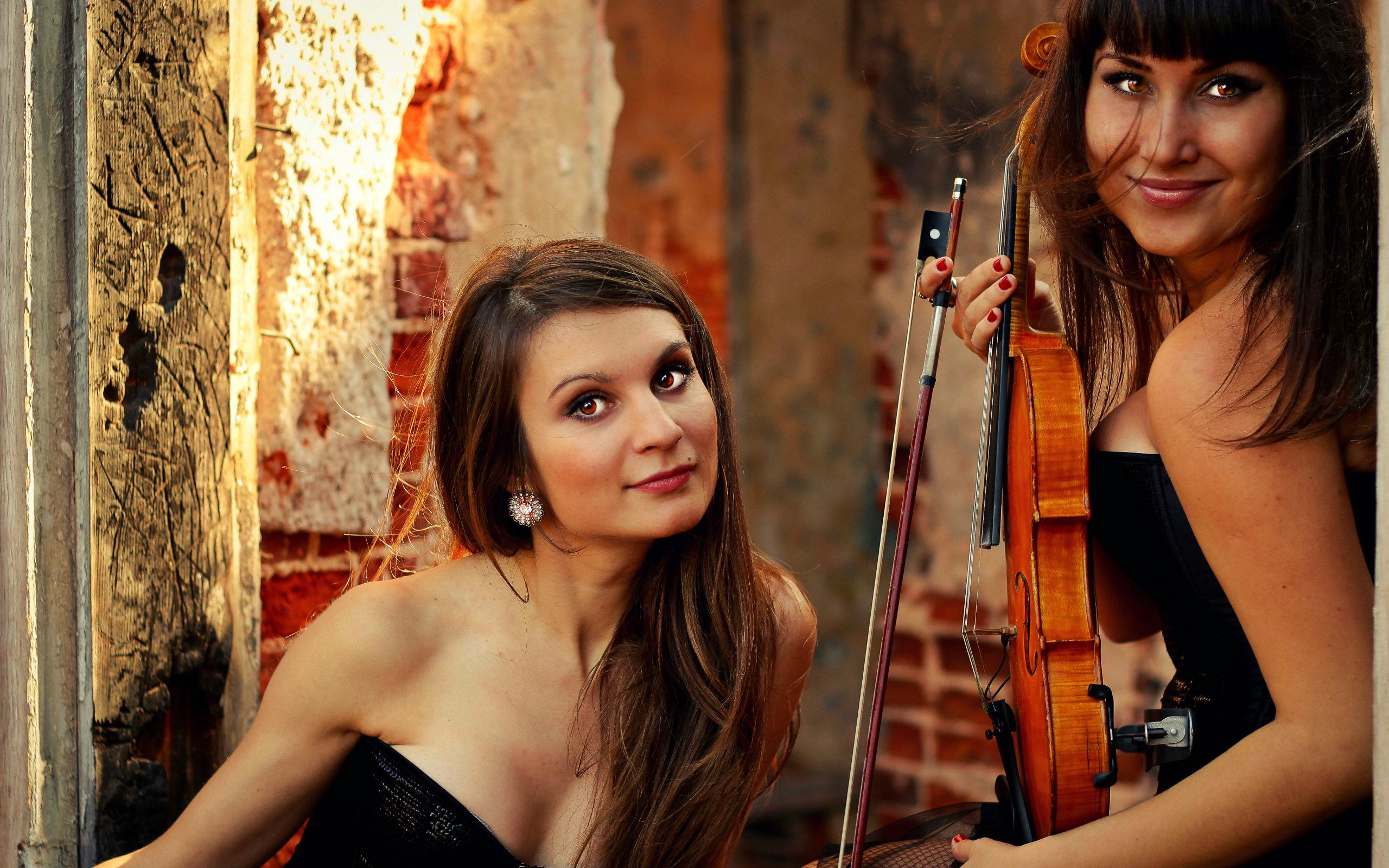девушки, скрипка, violin group dolls