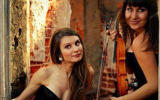 Бесплатные фото девушки,скрипка,violin group dolls,скрипачки,осень,музыканты,девушки