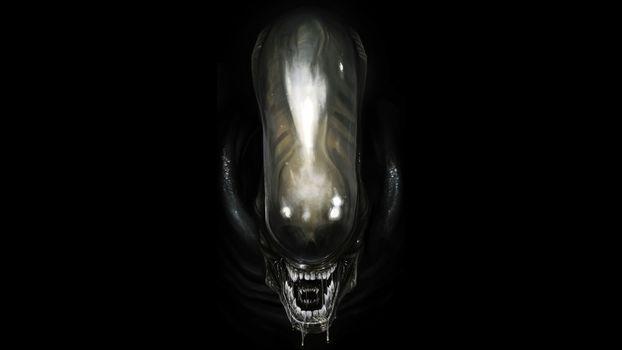 Photo free alien, black, background