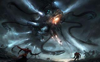 Фото бесплатно космический, карабль, нападение